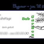 CARTE de VISITE SebGarden - juin '12